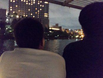 平成29年度県外視察研修旅行 宍粟市商工会青年部 天満橋から屋形船